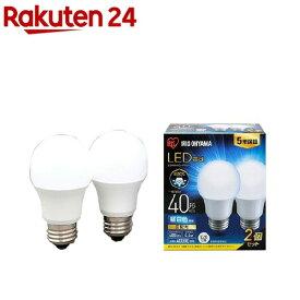 アイリスオーヤマ LED電球 E26 広配光2P 昼白色 40形 485lm LDA4N-G-4T62P(2個入)【アイリスオーヤマ】