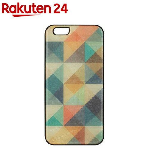 アイキンスiPhone6天然貝ケースモザイクブラックフレームI5218i6