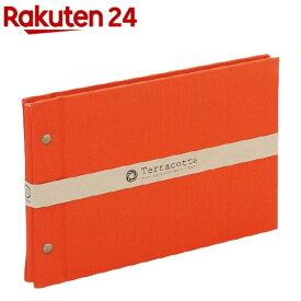 外ビス式アルバム テラコッタ A5サイズ レッド TER-A5F-120-R(1冊)【ナカバヤシ】