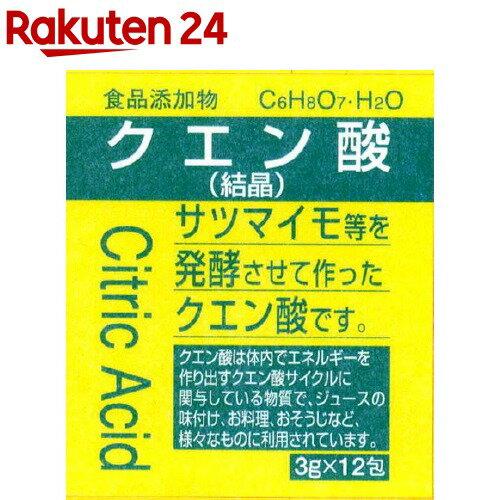 大洋製薬 食品添加物 クエン酸 結晶 分包(3g*12包)