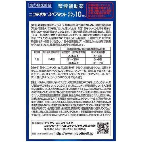 ニコチネルスペアミント(セルフメディケーション税制対象)