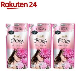 フレア フレグランス IROKA 柔軟剤 シアーブロッサムの香り 詰め替え(480ml*3袋セット)【3brnd-10】【ki30-c】【フレア フレグランス】