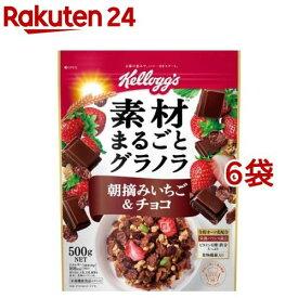 ケロッグ チョコレートのグラノラ 朝摘みいちご(500g*6袋セット)【ケロッグ】