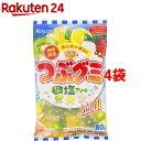 春日井製菓 つぶグミ 塩アソート(80g*4袋セット)【つぶグミ】
