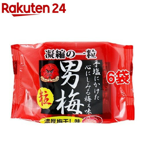 ノーベル製菓 男梅粒(14g*6コ)【humid_3】【男梅】