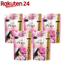 フレア フレグランス IROKA 柔軟剤 シアーブロッサムの香り 詰め替え 大サイズ(710ml*5袋セット)【フレア フレグランス】