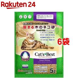 固まる木のネコ砂 キャッツベスト スマートペレット(5L*6袋セット)