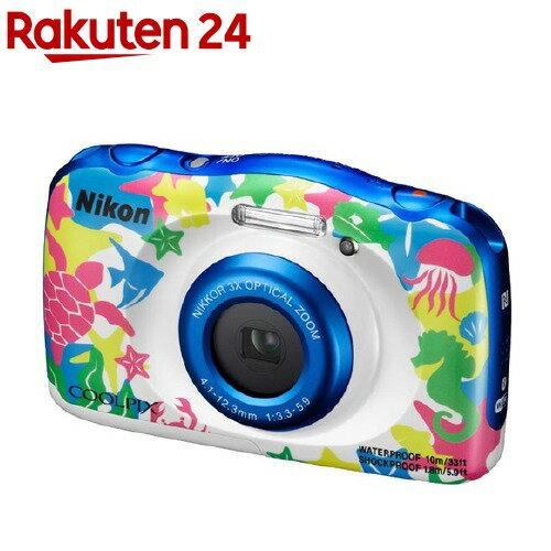 ニコン デジタルカメラ クールピクス W100 マリン(1台)【クールピクス(COOLPIX)】