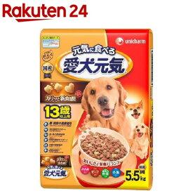 愛犬元気 13歳以上用 ささみ・ビーフ・緑黄色野菜・小魚入り(5.5kg)【愛犬元気】[ドッグフード]