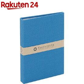 溶着式ポケットアルバム テラコッタ KG判1段ポケット ブルー TER-KGP-75-B(1冊)【ナカバヤシ】