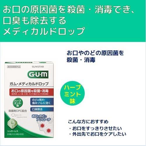 ガム(G・U・M)メディカルドロップハーブミント味