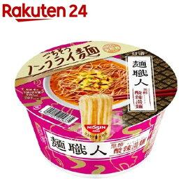 日清麺職人 黒酢酸辣湯麺 ケース(90g*12個入)【日清麺職人】