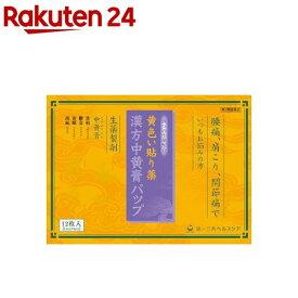 【第2類医薬品】漢方中黄膏パップ(12枚入)【KENPO_05】