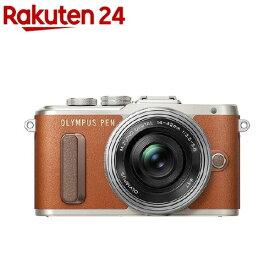 【アウトレット】オリンパス ミラーレス一眼 PEN E-PL8 14-42mm EZ レンズキット ブラウン(1台)