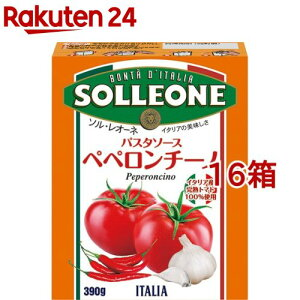 ソル・レオーネ パスタソース ペペロンチーノ テトラ(390g*16箱セット)【ソル・レオーネ(SOLLEONE)】