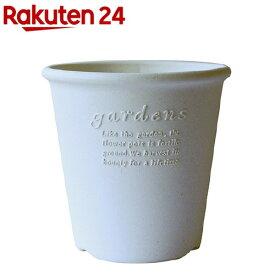 植木鉢 パピエ エコポット丸型 6号 WH(1コ入)