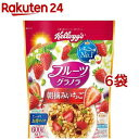 ケロッグ フルーツグラノラ 朝摘みいちご(600g*6コセット)【kel6】