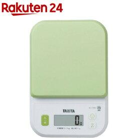 タニタ デジタルクッキングスケール グリーン KJ-110S-GR(1台)【タニタ(TANITA)】