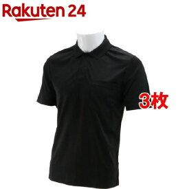 SK11 半袖ポロシャツ ブラック Mサイズ M-BLK-1P(3枚セット)【SK11】