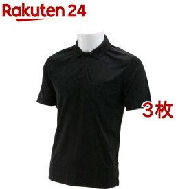SK11 半袖ポロシャツ ブラック Lサイズ L-BLK-1P(3枚セット)【SK11】