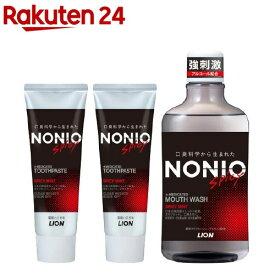 ノニオ ハミガキ スパイシーミント+マウスウォッシュ スパイシーミント(1セット)【u9m】【ノニオ(NONIO)】