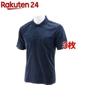 SK11 半袖ポロシャツ ネイビー Lサイズ L-NVY-1P(3枚セット)【SK11】