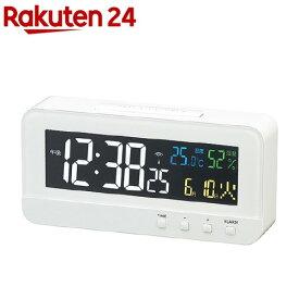 電波時計 カラーハープ T-684 WH(1台)