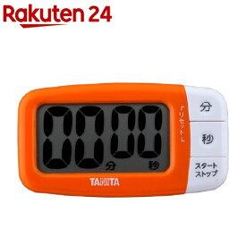 タニタ デジタルタイマー でか見えプラス オレンジ TD-394-OR(1台)【タニタ(TANITA)】