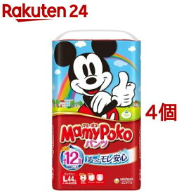 マミーポコ パンツ Lサイズ(44枚入*4コセット)【KENPO_12】【3brnd-11all】【マミーポコ】