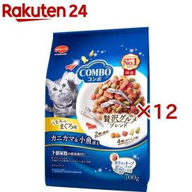 コンボ 猫下部尿路の健康維持 まぐろ味・カニカマ・小魚添え(140g*5袋入*12コセット)【コンボ(COMBO)】[キャットフード]