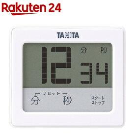 タニタ 防水タッチパネルタイマー ホワイト TD-414-WH(1コ入)【タニタ(TANITA)】