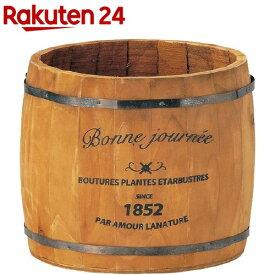 グリーンハウス ロゴウッドプランター 樽 L 3078-A-BR ブラウン(1コ入)【グリーンハウス(ガーデニング用品)】