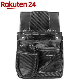 SK11 カーボンレザー釘袋 墨ツボポケット付 SK-CLK-SP ブラック(1コ入)【SK11】