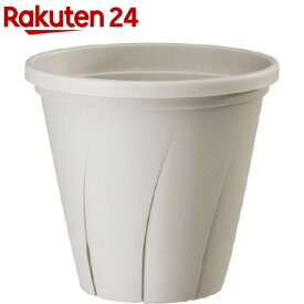 根はり鉢 8号 ホワイト(4.8L)【大和プラスチック】