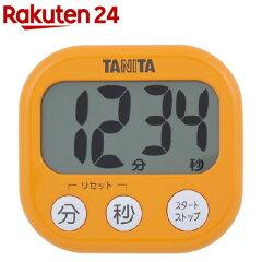 タニタでか見えタイマーアプリコットオレンジTD-384-OR