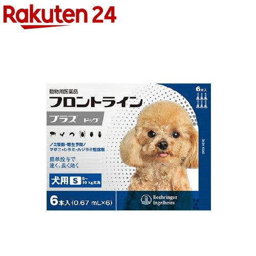 フロントラインプラス 犬用 S 5〜10kg未満(6本入)【フロントラインプラス】