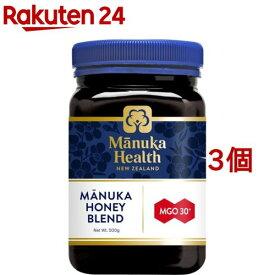 マヌカヘルス マヌカハニー MGO30+ ブレンド (正規品 ニュージーランド産)(500g*3個セット)【マヌカヘルス】