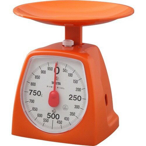 タニタアナログクッキングスケール1000gオレンジ1439-OR-1kg