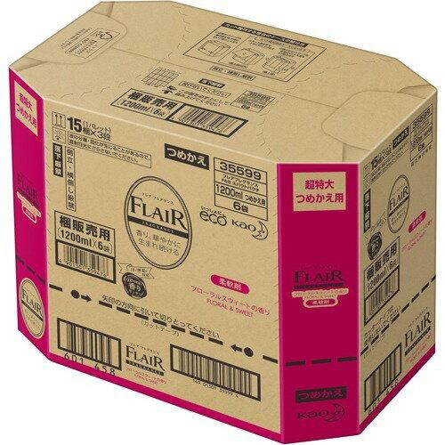 フレアフレグランス柔軟剤フローラル&スウィート詰め替え特大サイズ梱販売用