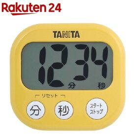 タニタ でか見えタイマー マンゴーイエロー TD-384-MY(1台)【タニタ(TANITA)】