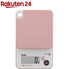 タニタ 洗えるクッキングスケール ピンク KW-201-PK(1台)【タニタ(TANITA)】