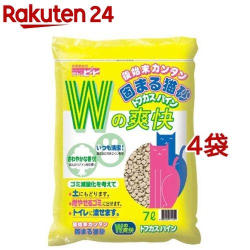 猫砂 おから クリーンビート NEWトフカスパイン(7L*4コセット)【トフカスサンド】