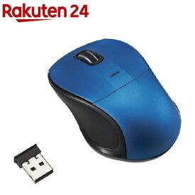 無線静音3ボタンブルーLEDマウス ブルー MUS-RKT109BL(1コ入)
