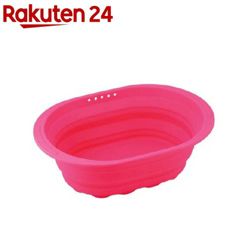 スキッとシリコーン 小判型洗い桶 ピンク SR-4881(1コ入)【スキッとシリコーン】【送料無料】