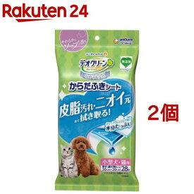 デオクリーン からだふきシート 小型犬用 やわらかなソープの香り(28枚入*2コセット)【デオクリーン】