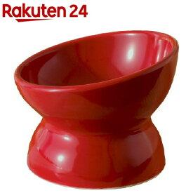 瀬戸焼 にゃん楽食器 ごはん 紅赤(1コ入)