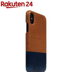 SLG iPhone XS/X タンポナタレザーバックケース タン X ブルー SD13655i58(1個)【SLG Design(エスエルジーデザイン)】