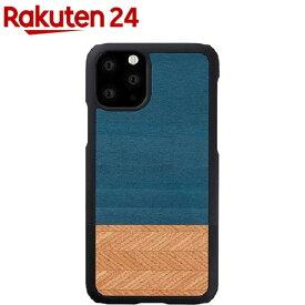 マン&ウッド iPhone 11 Pro Max 天然木ケース Denim I16855i65R(1個)【マン&ウッド(Man&Wood)】