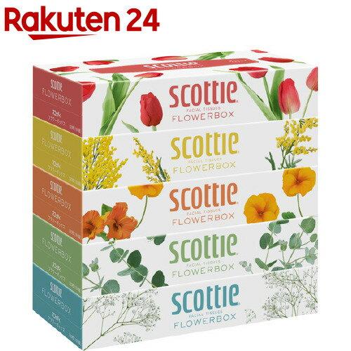 スコッティ ティシュー フラワーボックス(320枚(160組)*5コ入)【スコッティ(SCOTTIE)】