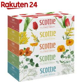 スコッティ ティシュー フラワーボックス(320枚(160組) 5箱パック)【3brnd-11】【evm2】【Dreg063】【スコッティ(SCOTTIE)】[ティッシュ]